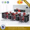 큰 크기 나무로 되는 사무용 가구 컴퓨터 테이블 사무실 워크 스테이션 (HX-ZS0075)