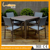 Rota de aluminio de madera del taburete B&R de la cerveza del jardín de los muebles al aire libre del patio que cena el conjunto del vector de la silla de los bistros