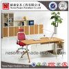 De hete Houten Desktop van de Melamine met het Bureau van de Voet van het Staal (NS-D044)