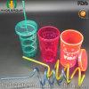 Одностеночное Plastic Tumbler с Straw и Screw Lid