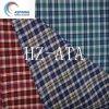 Tissus de coton teints par filé de polyester pour le T-shirt de l'homme