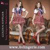 Costume adulte d'étudiantes de lingerie d'uniforme scolaire de Cosplay de robe sexy d'équipement (KS12-013)