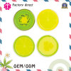 Reeks van Onderlegger voor glazen 9X9cm van de Drank van het Silicone van de Plak van 6 Fruit (3.5 ) Stootkussen van de Mat van de Kop van het Ontwerp van de Nieuwigheid het Antislip