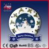 눈사람 패턴 거는 눈이 내리는 크리스마스 훈장