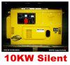 Super Kwaliteit, 10kw de Kleine Stille Diesel Enige Fase van de Generator zowel en driefasen