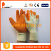 Final anaranjado de la arruga de 10 del calibrador del algodón del látex guantes de la capa (DKL321)