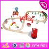 El sistema de madera del tren del juguete del nuevo cabrito popular del diseño 2016, forma el sistema de madera de madera del tren del juguete, tren de madera W04c029 determinado del juguete de la venta superior