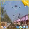 80W alumbrado público solar doble de los brazos LED