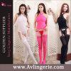 Les femmes fascinent les collants sexy de lingerie de Bodystocking de fourche ouverte (KK02-061)