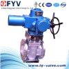 Válvula de plugue elétrica assentada resiliente CF8m do atuador