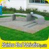 公園のための顧客用屋外の現代ステンレス鋼の庭シートのベンチ