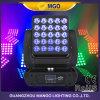 Pista móvil motorizada de la matriz de la iluminación 25X12W LED de la etapa de DMX