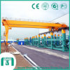 Bmh de bonne qualité Model Double Girder Semi Gantry Crane avec Electric Hoist