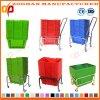Bester Preis-bunter Plastiksupermarkt-Einkaufskorb mit Griffen (Zhb112)