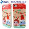 懸命にiPhone 4/のためのクリスマスの設計場合携帯電話の箱(SM-I4)