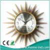 Reloj de pared del metal de la forma de 2015 Sun para la decoración casera