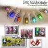 O diodo emissor de luz da etiqueta da arte do prego de Nfc derruba cores instantâneas claras do telefone 7 dos acessórios DIY do decalque