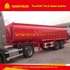 del árbol 30m3 2 del carburante-aceite de almacenaje del tanque del carro acoplado semi