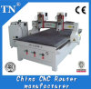 El doble dirige la máquina de madera del CNC de la carpintería