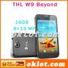 THL W9 MTK6589Tのクォードの中心5.7のインチFHD 1920X1080ピクセルアンドロイド4.2のスマートな電話13.0のMPのカメラWCDMA