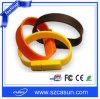 Lecteur flash USB fait sur commande de bracelet de silicium de PVC