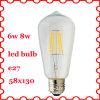 diodo emissor de luz Filament Bulb do diodo emissor de luz Bulb E27 de 6W 8W Edison Classic