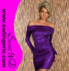 Fascínio fora de Shoulder Mini Dress 20015-Purple