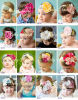 2015 Top Baby Cute Beautiful Christmas Baby Headband with Flower Baby Amour