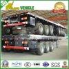 Aanhangwagen van de Container van het Vervoer van de tri-as 40FT Flatbed Semi