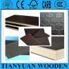 12m m Anti-Slip Square Finish Pattern Brown Film Faced Plywood