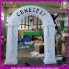Arco branco inflável gigante de Halloween para a decoração de Halloween