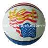 Baloncesto de goma impreso colorido de la alta calidad