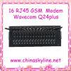 16 modem Port di Wavecom Q24plus RJ45 GSM SMS, carta di telecomando SIM