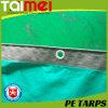 Anti-Polvere d'argento/verde, pioggia, smeriglia la tela incatramata impermeabile del PE
