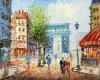 Parigi Street Landscape Knife Painting su Canvas (KLPSS-0020)