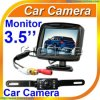 système de secours d'appareil-photo de contrôle + de voiture de couleur de Rearview d'inverse de voiture d'affichage à cristaux liquides de 3.5  TFT