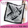Шарф черного квадрата реальный Silk для женщин