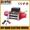 12 voltios 8500lbs del torno eléctrico del tambor de cable del camino con la cuerda de alambre