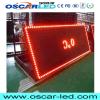 Único texto ao ar livre do desdobramento do vermelho P10 que anuncia o indicador de diodo emissor de luz