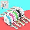 2 en 1 câble de caractéristiques escamotable de foudre pour iPhone+Micro USB