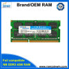 Low Density 204pin 256 MB * 8 16chips CL9 DDR3-RAM 4GB für Laptop