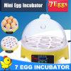 Incubatrice automatica dell'uovo di quaglie del regalo di natale mini per 7 uova