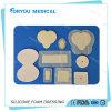 Rectification médicale imperméable à l'eau de mousse de silicones enroulée par silicones d'argent de blessure