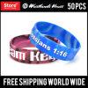 Un assegno da 3/4 di pollice progetta i Wristbands per il cliente del silicone