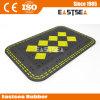 Schwarzes und gelbes Verkehrssicherheit-Gummi-Kissen