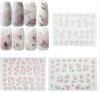 3D 분홍색 꽃은 물 못 예술 스티커 못 스티커를 디자인했다