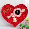 Caixa da flor do cartão do papel da forma do coração do Sweety