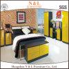 غرفة نوم أثاث لازم أصفر عال لمعان خزانة ثوب مقصورة