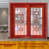 Porta corrediça de vidro sólido de madeira de design moderno (GSP3-016)