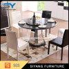 ステンレス鋼の円形のダイニングテーブルはホテルのためにセットした